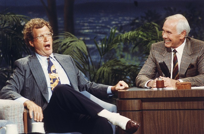 David Letterman with Johnny Carson_128267
