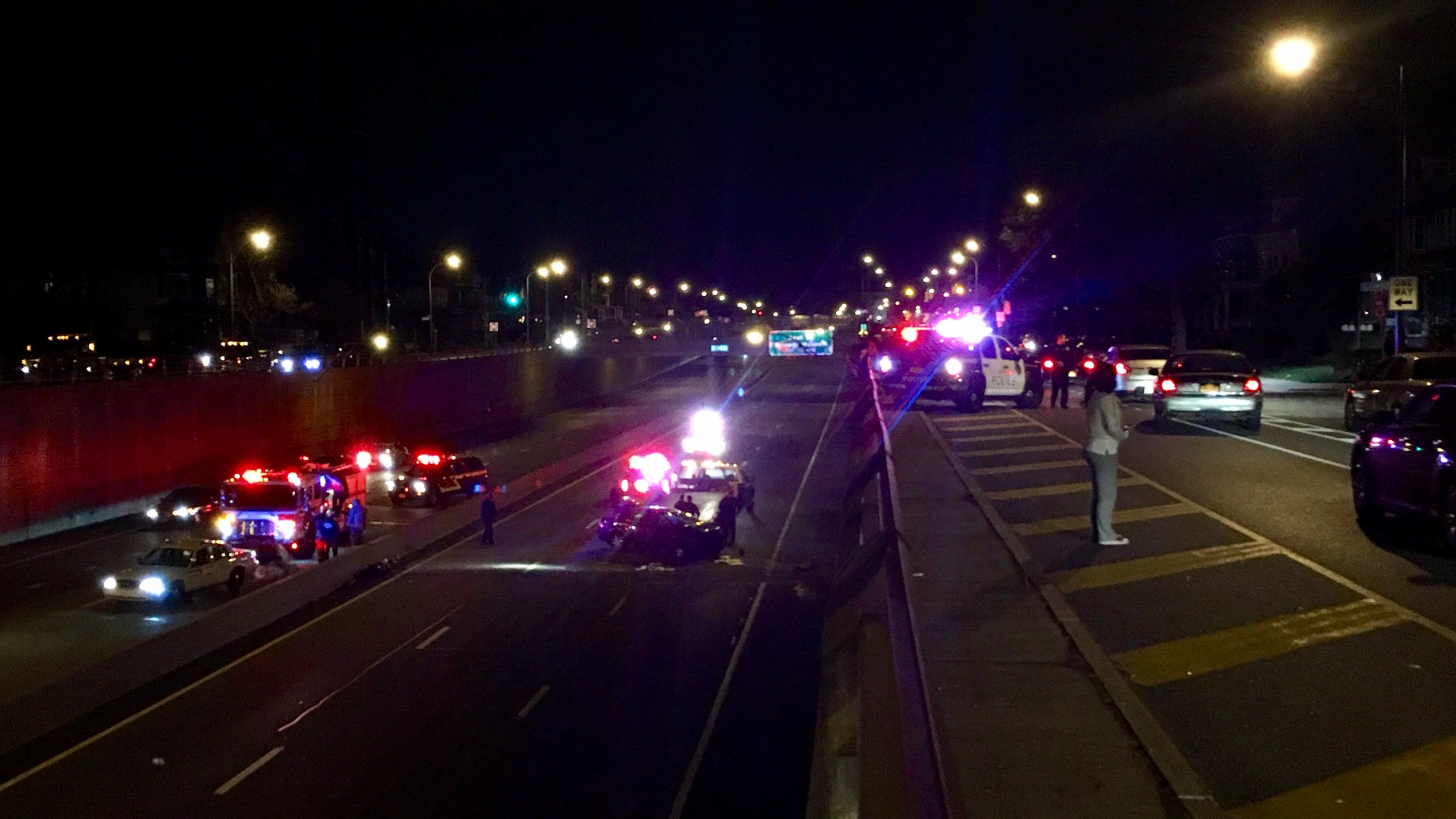 Rt  33 crash possibly tied to fatal shooting