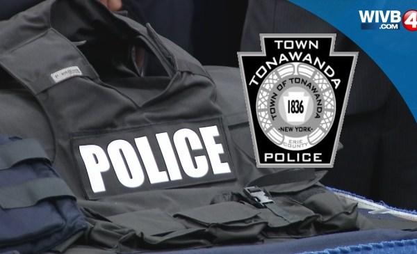 WEB TAG, Town of Tonawanda Police, Cuffs, Siren, Badge_88901