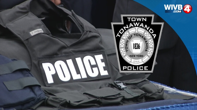 WEB TAG, Town of Tonawanda Police, Cuffs, Siren, Badge_88901