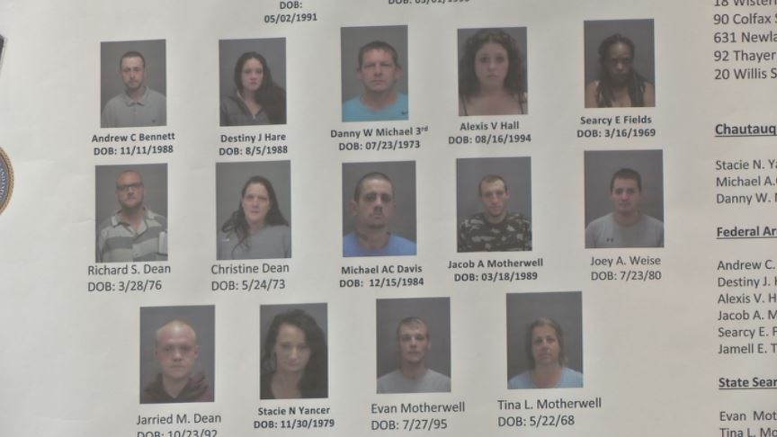 Drug bust in Chautauqua County leads to 16 arrests