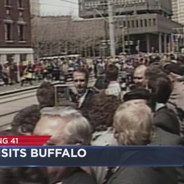 Bush visits Buffalo