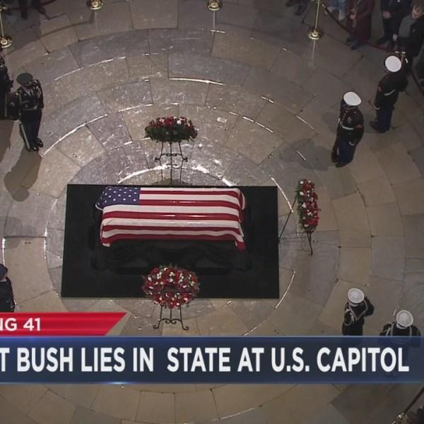 President Bush lies in state