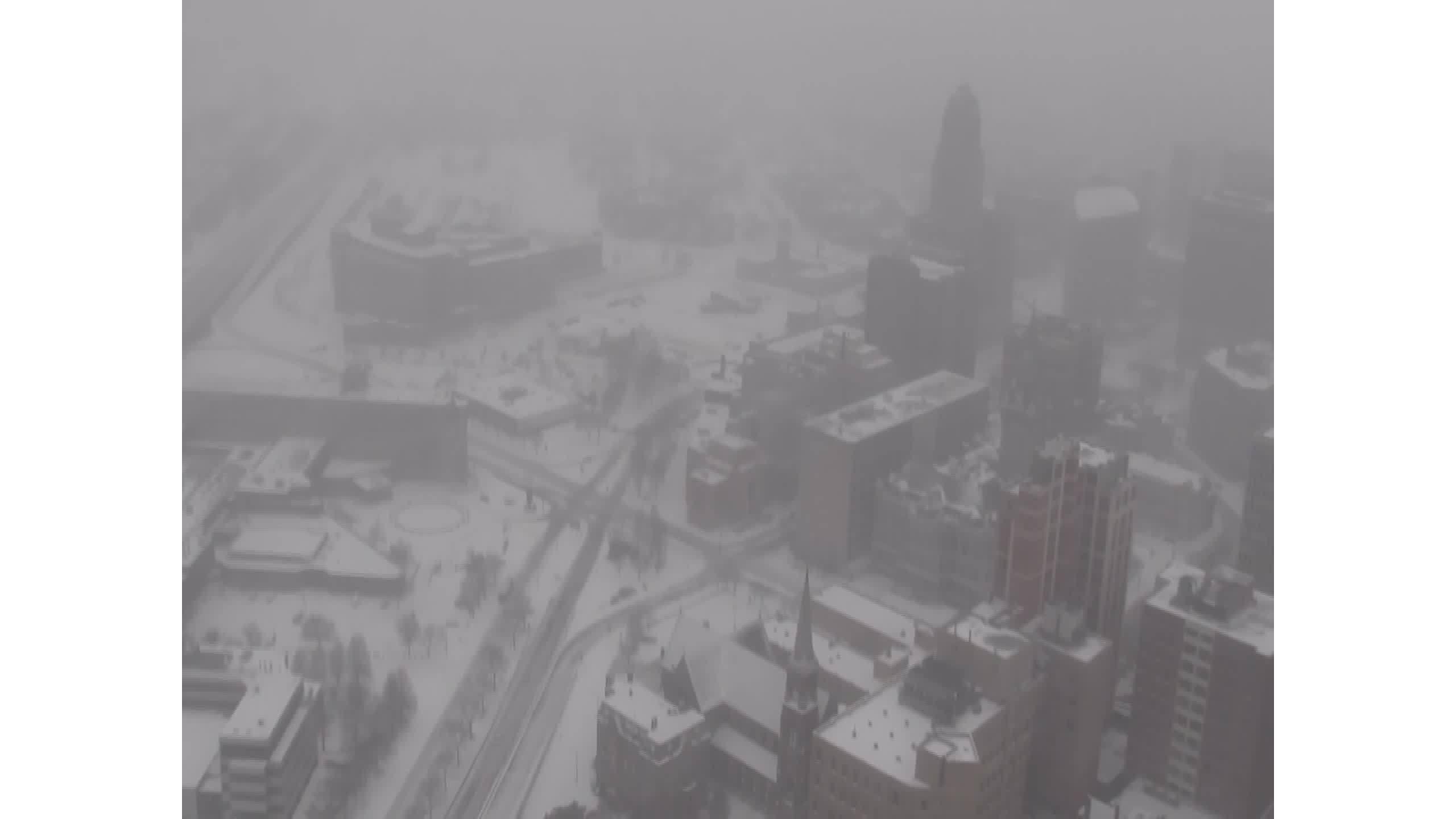 One Seneca Tower Cam downtown snow