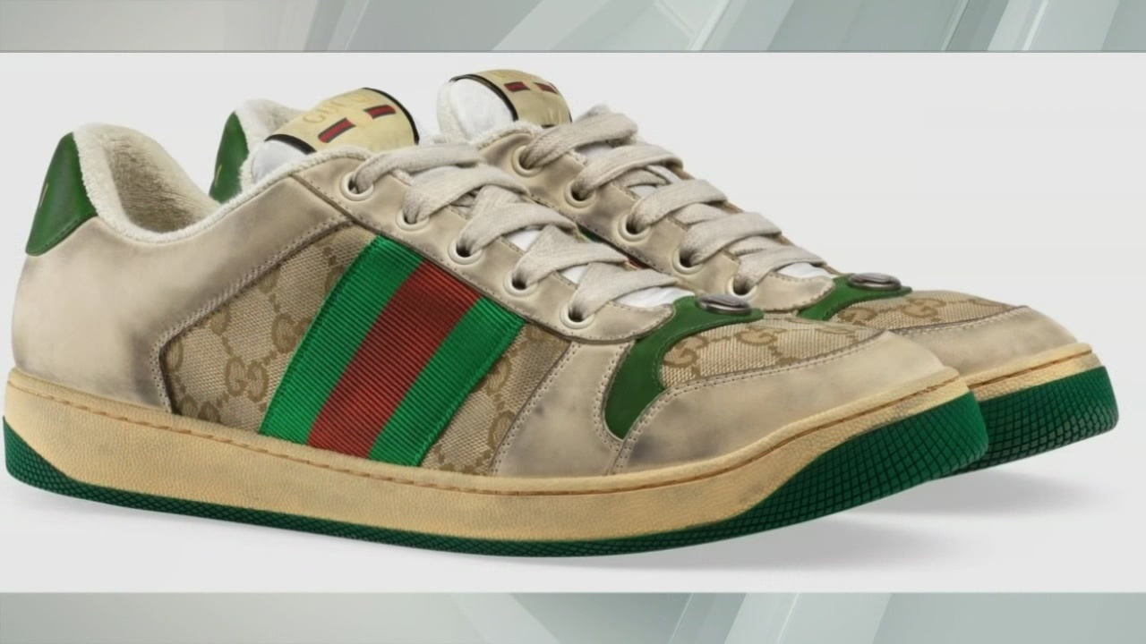 Gucci makes shoes meant to look worn, dirty