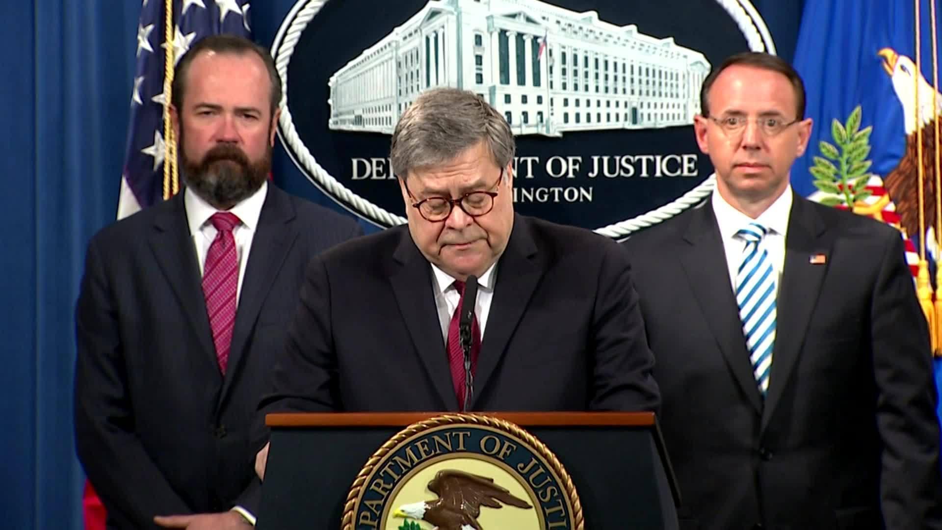 AG Barr speaks on Mueller report 1