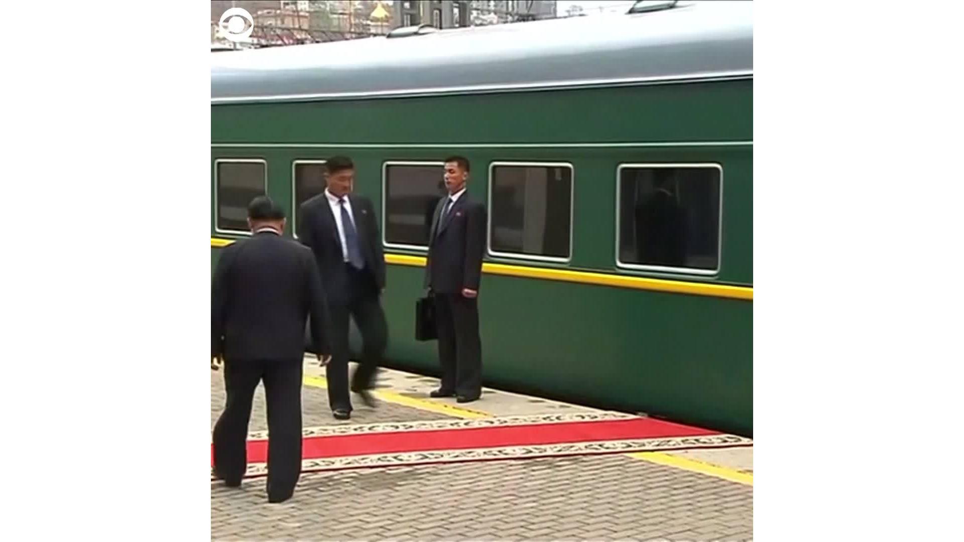Kim Jong-Un arrives