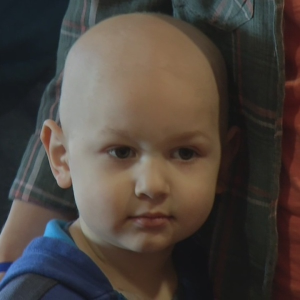 Boy fighting cancer given puppy