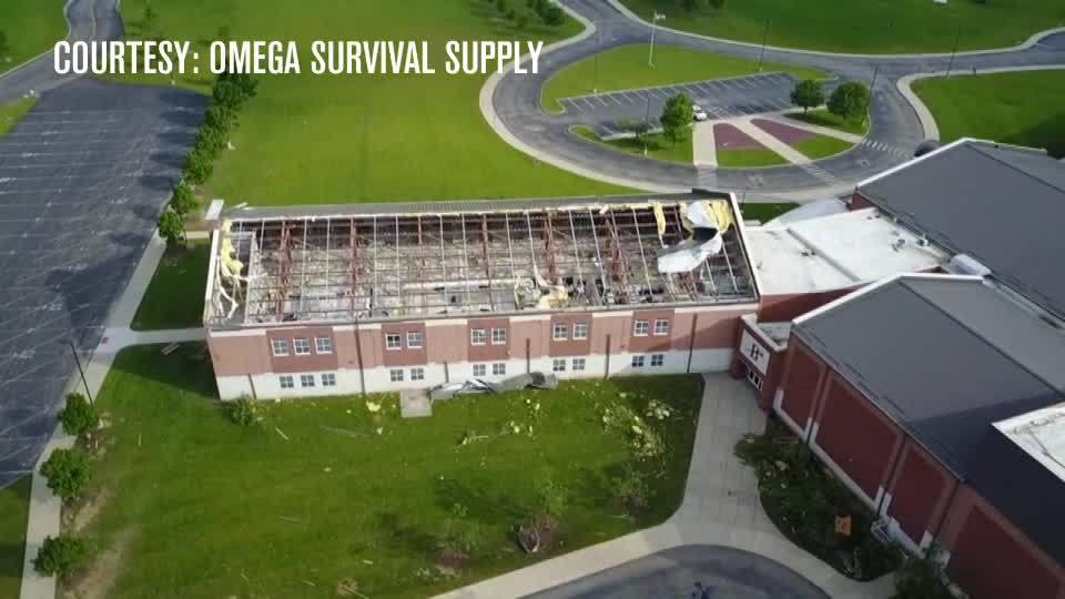 Brookville High School suffers massive damage