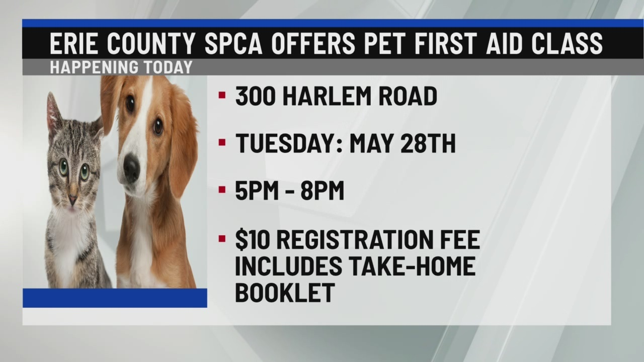 Erie County SPCA offering pet first aid class
