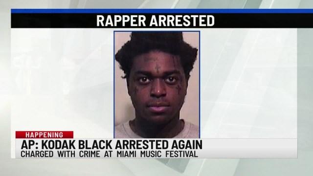 Rapper Kodak Black arrested