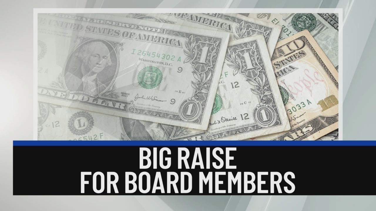 Pay raise for board members, election results