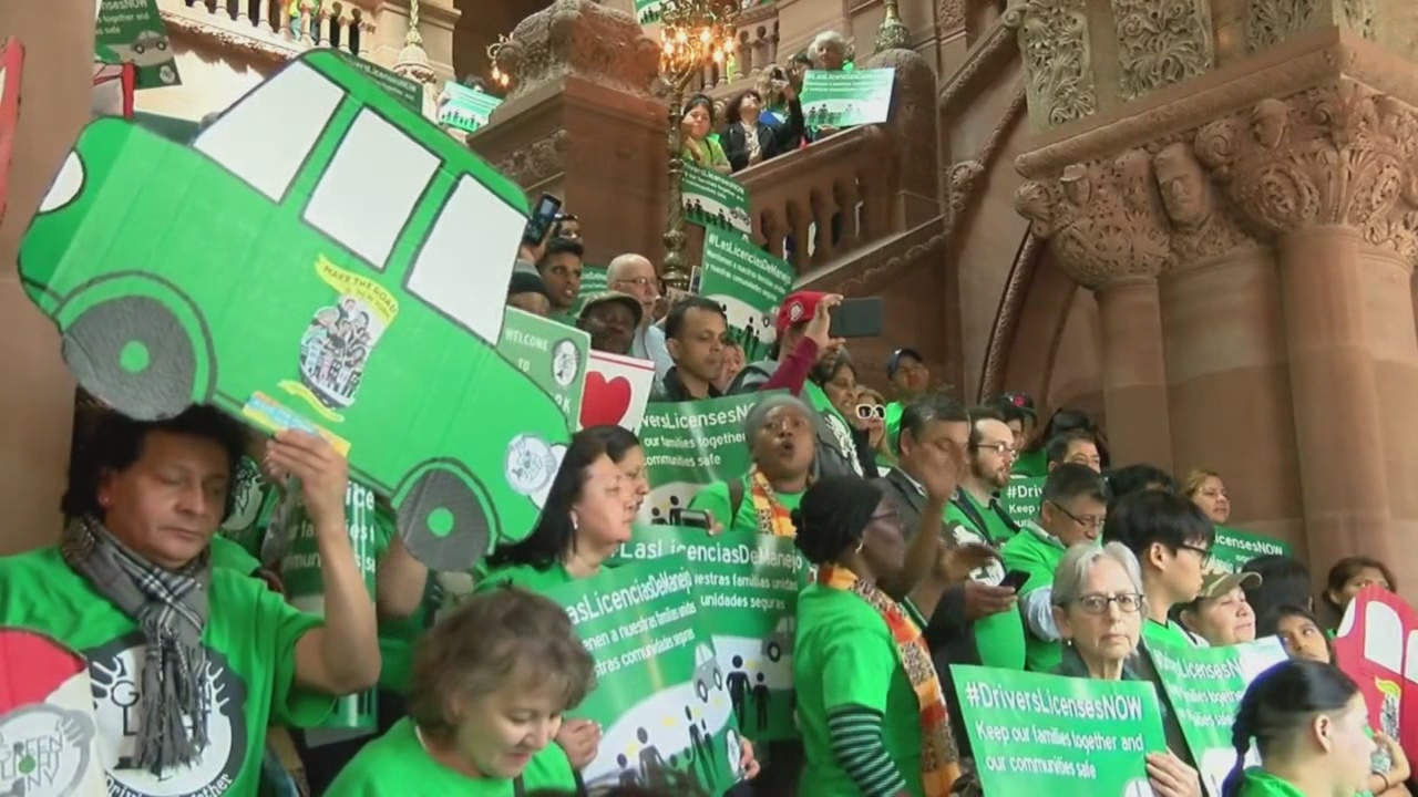 Rally for driver's licenses for undocumented immigrants