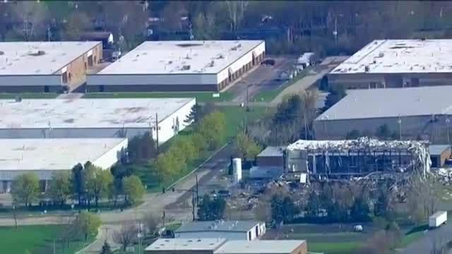 Scene of the Illinois explosion