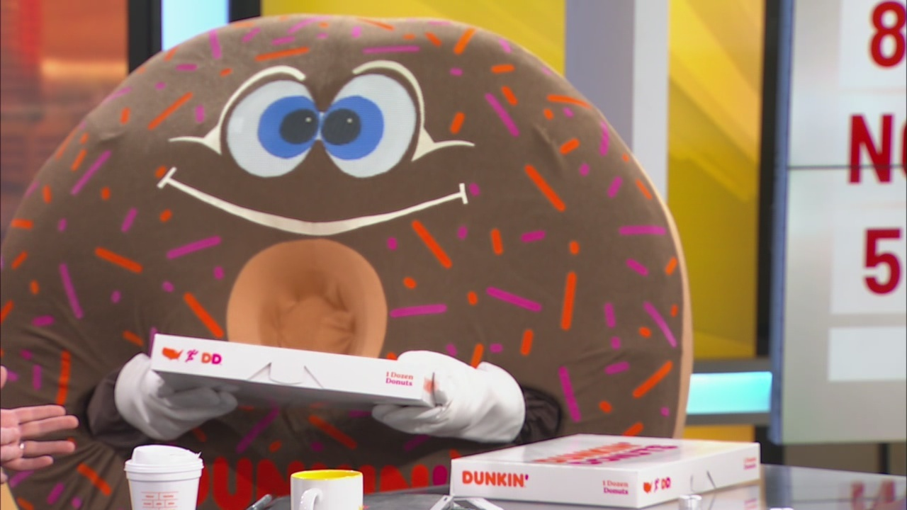 Dunkin Donuts pays a visit to News 4