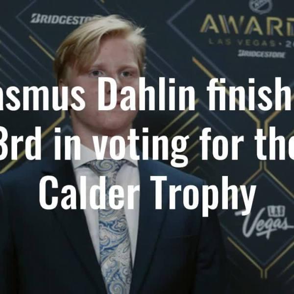 Rasmus Dahlin Finishes 3rd For Calder Trophy