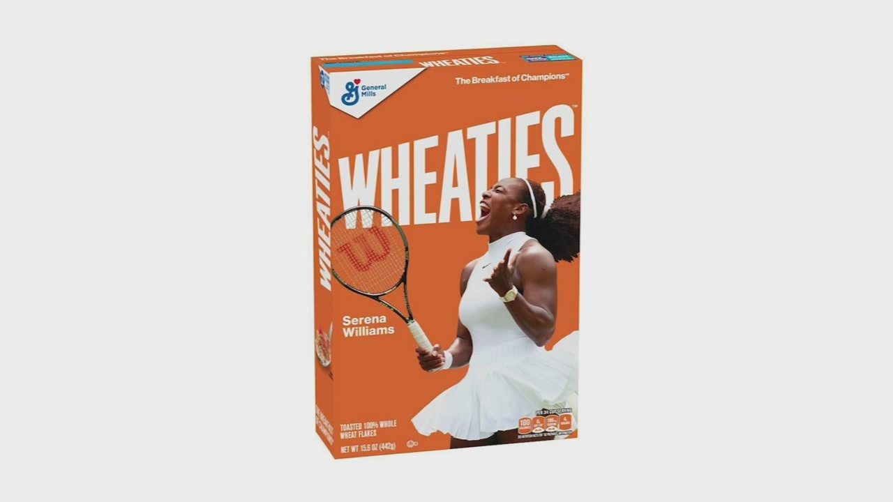new wheaties box features serena williams