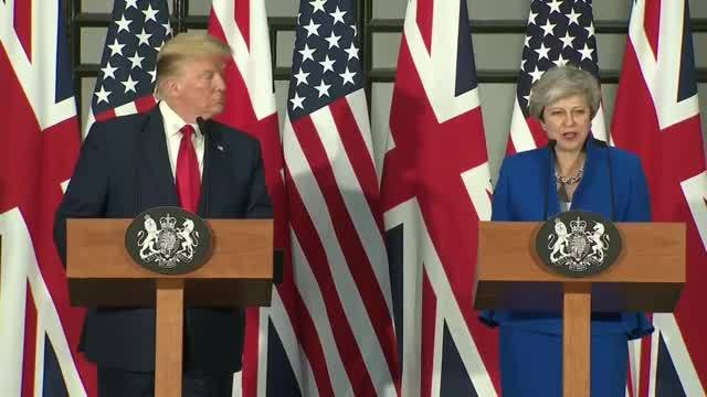 Trump and May speak