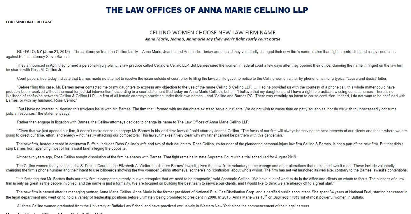 Cellino family choose new name for firm after lawsuit filed
