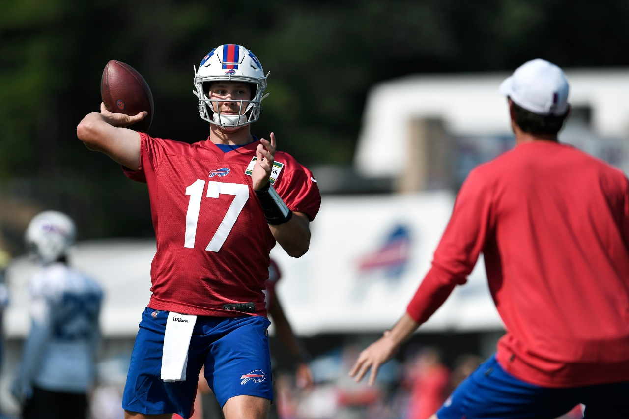 new year  new feel for allen at training camp