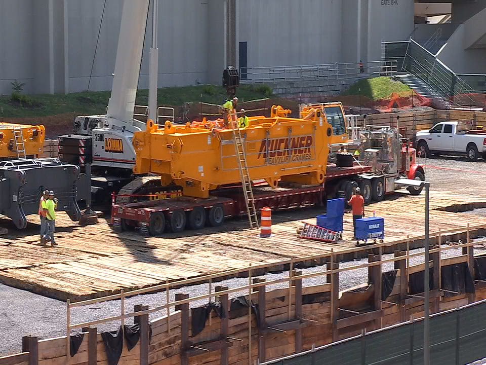 Work Begins To Build Massive Crane For Carrier Dome Roof