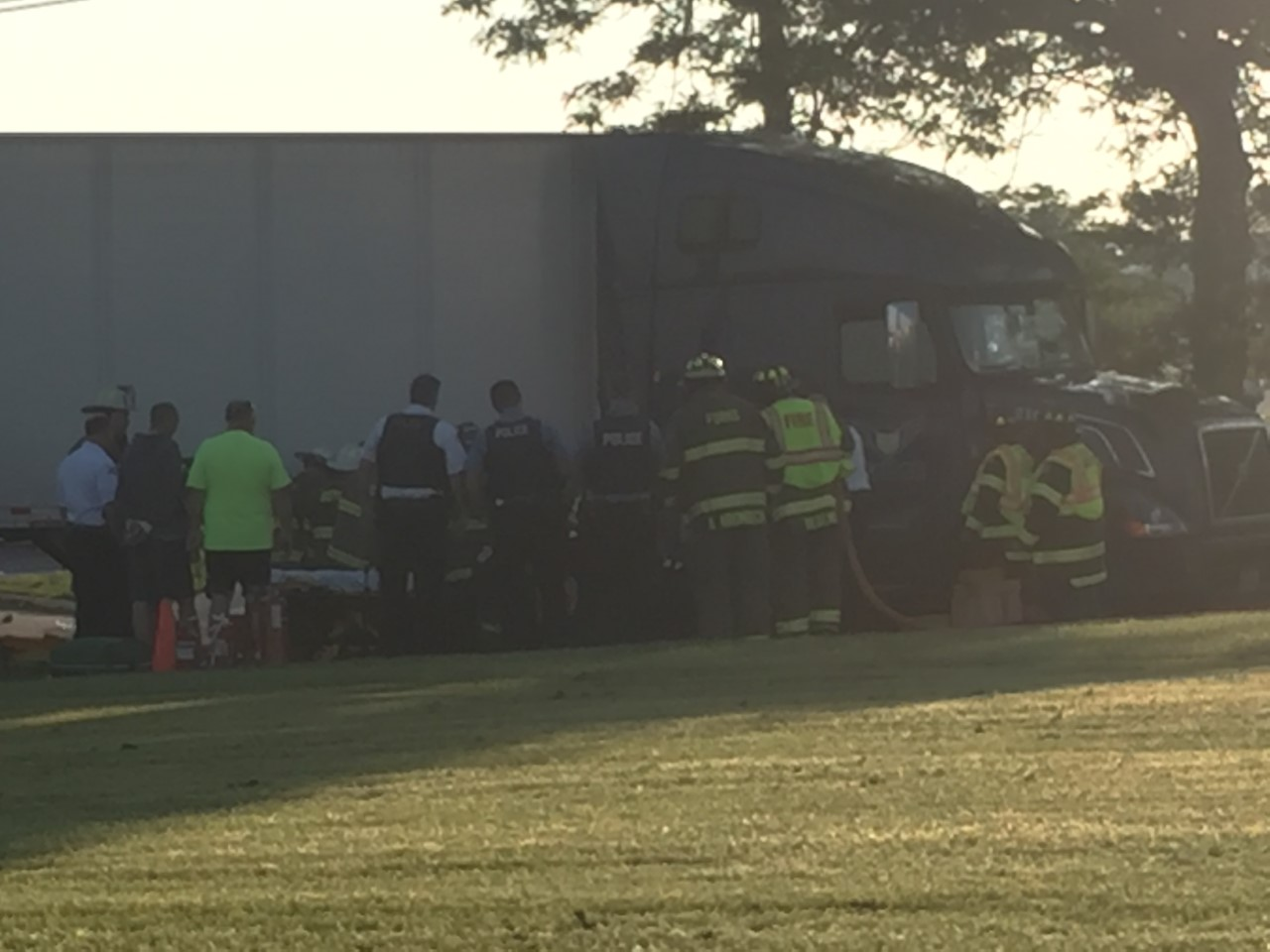 motorcycle  tractor trailer involved in crash on walden