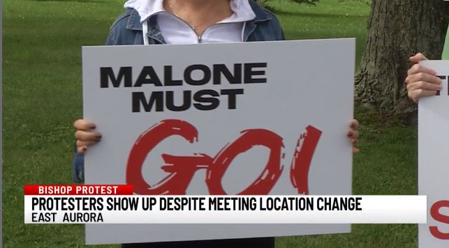 protesters continue to call for bishop malone u2019s