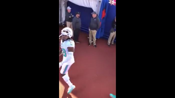 bills fan claims dolphins bobby mccain spit on him after