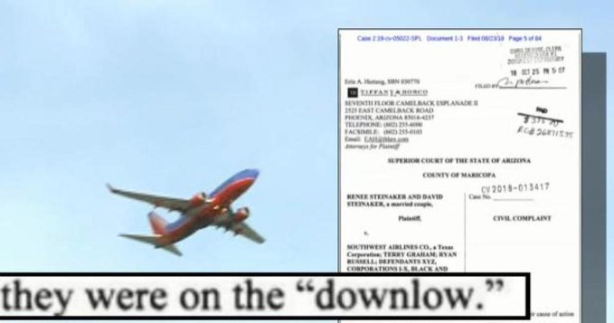 southwest pilots accused by flight attendant of streaming