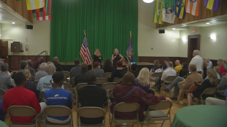 Sen. Kirsten Gillibrand takes questions at Buffalo town hall