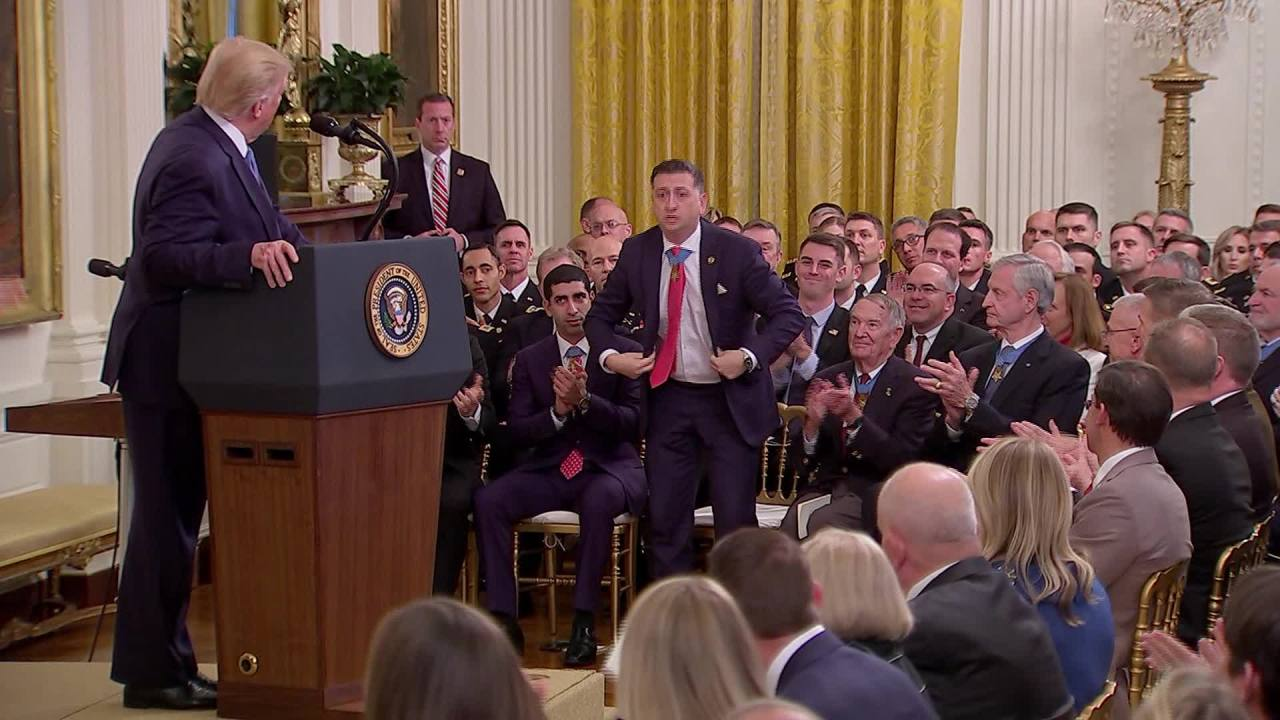 president trump says medal of honor recipient david
