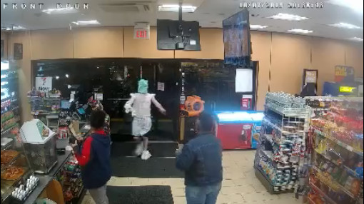 Kimberly and Beck - Man Wearing Plastic Bags On Head, Hands, And Feet Robs Niagara Falls Stores