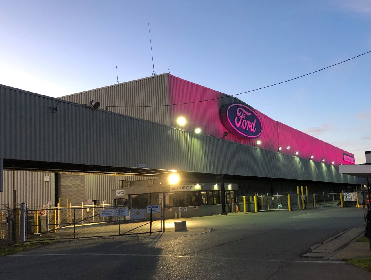ford plant and water tower go pink for breast cancer
