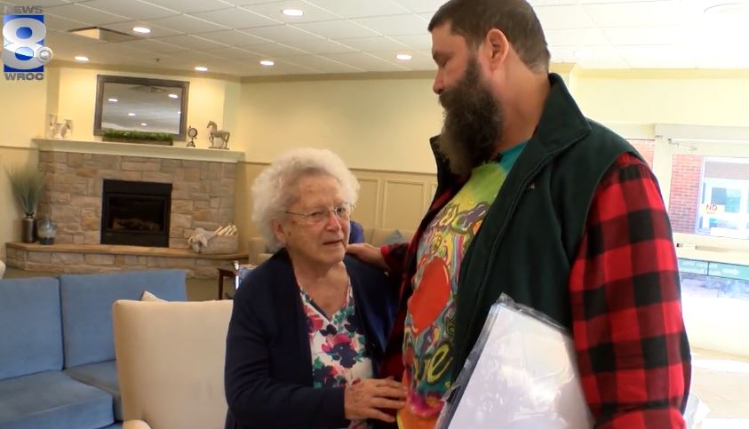 WWE superstar Mick Foley visits 92-year-old fan at Canandaigua nursing home