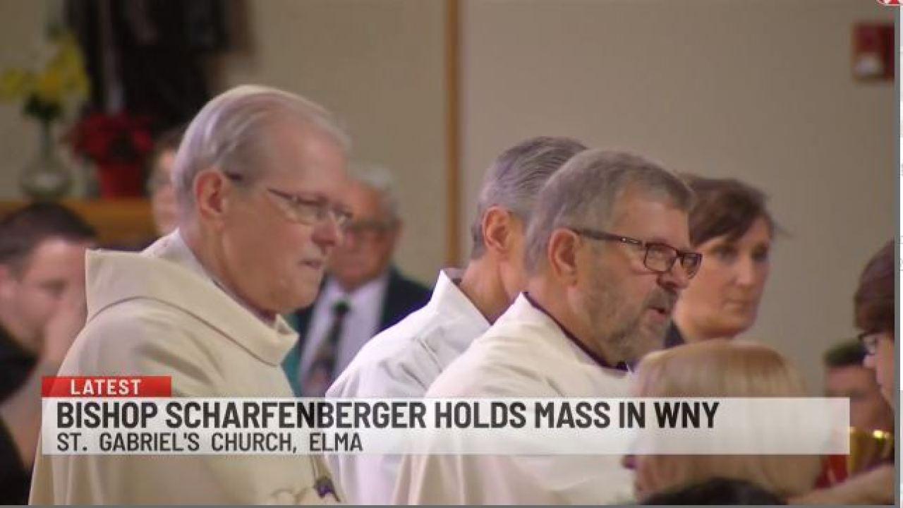 Bishop Scharfenberger holds first mass in Western New York 1