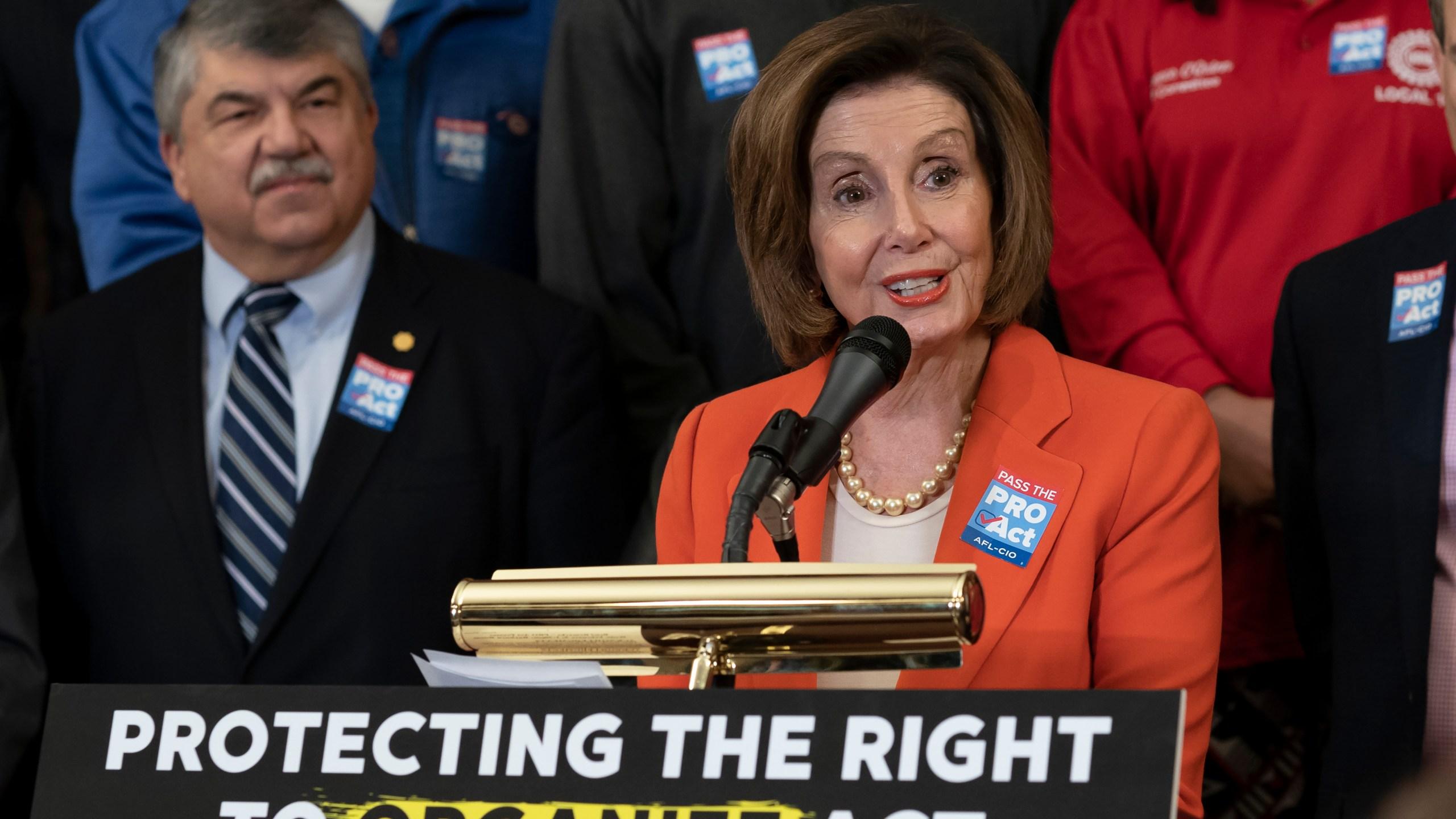 Nancy Pelosi, Richard Trumka