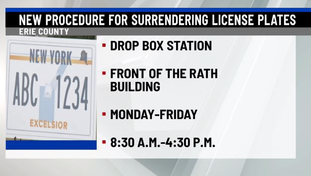 erie county launches new procedure for license plate