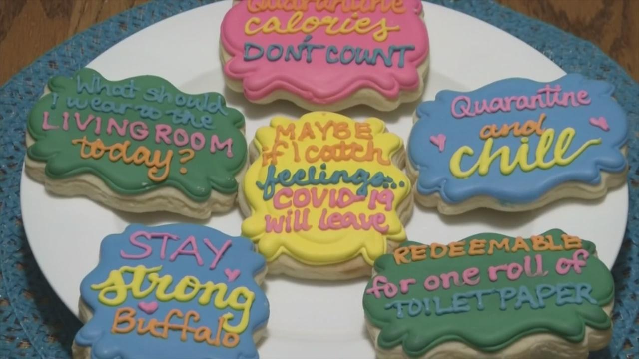 Wondrous Mundy Cakes Quarantine Cookies Bring Smiles News 4 Buffalo Funny Birthday Cards Online Necthendildamsfinfo