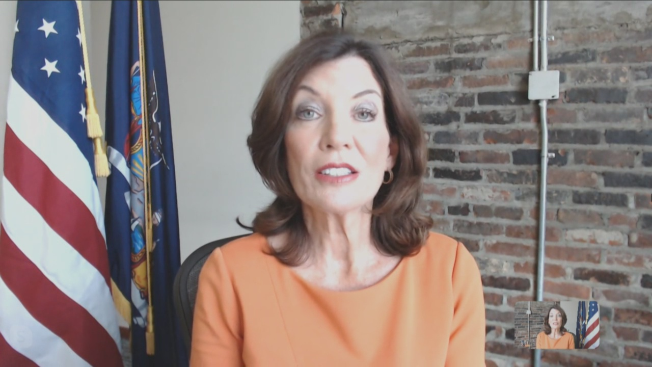 Lt. Governor Kathy Hochul reacts to more businesses reopening as New York moves forward   News 4 ...