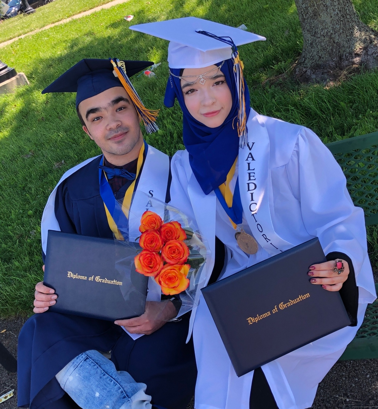 Siblings create tutorials in Arabic to help English as a second language students with remote learning