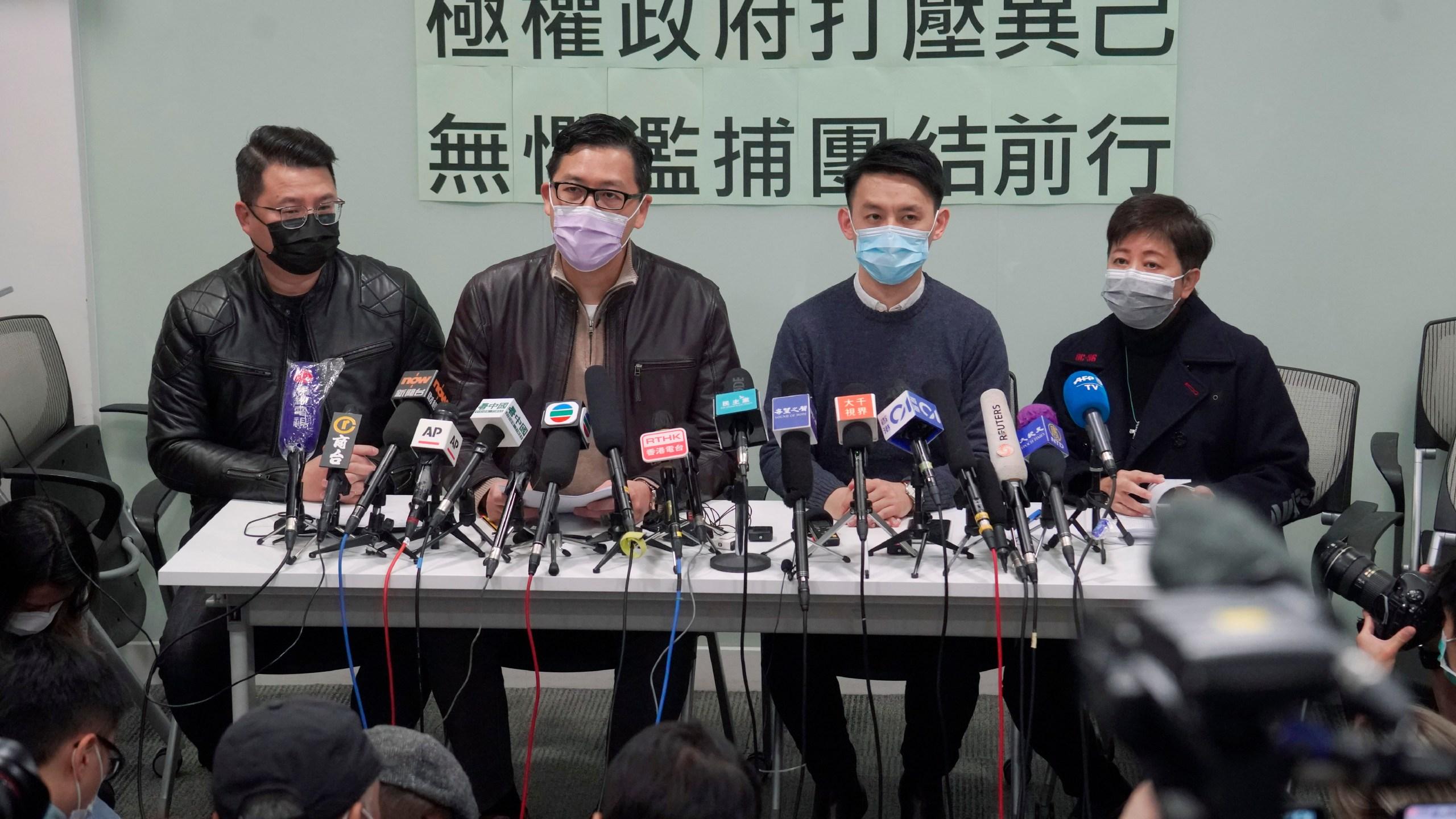 Andrew Wan, Lam Cheuk-ting, Helena Wong