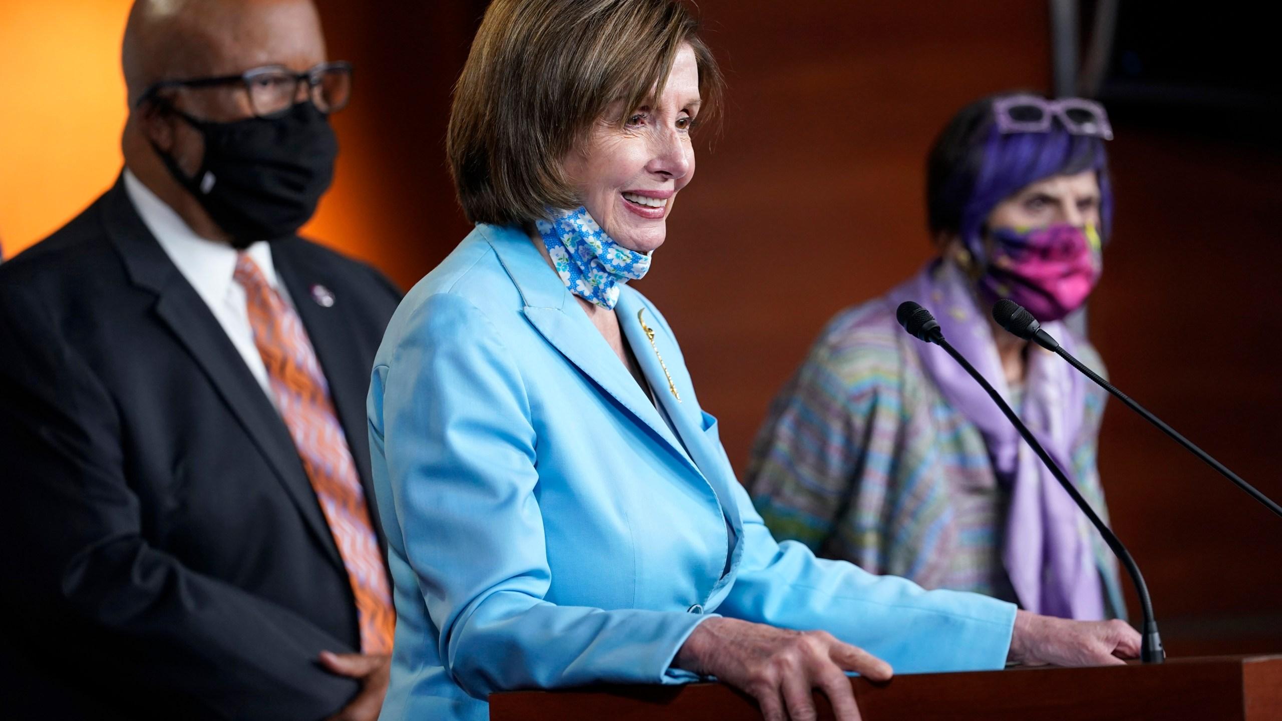 Benny Thompson, Rosa DeLauro, Nancy Pelosi