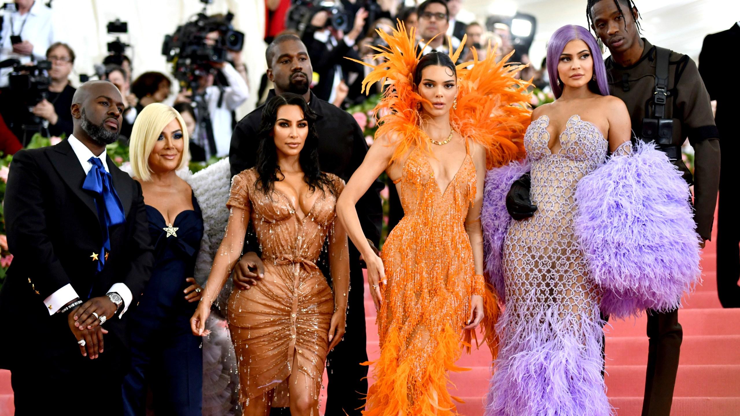 Corey Gamble, Kris Jenner, Kim Kardashian, Kendall Jenner, Kylie Jenner, Travis Scott
